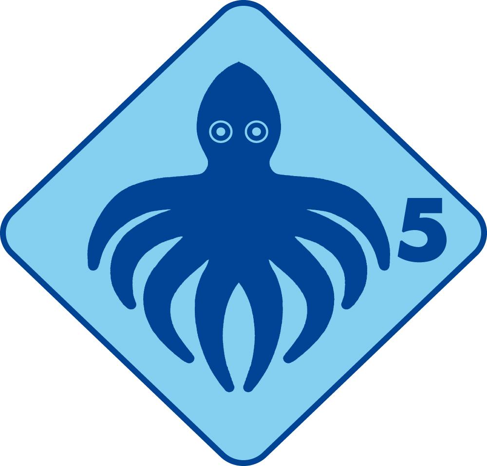 Tintenfisch Schwimmabzeichen